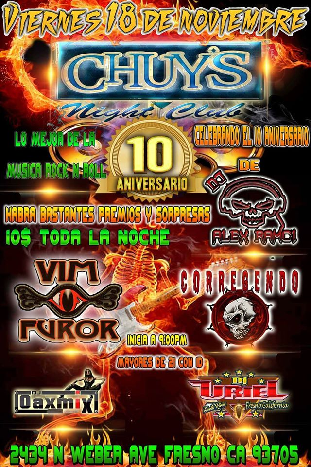 Vim Furor Chuys Night Club Fresno CA